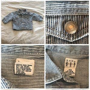 Baby Gap  3-12m Hickory Railroad Stripe Jacket